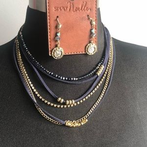 Necklace and earrings Set! Blues and coins 💎💰